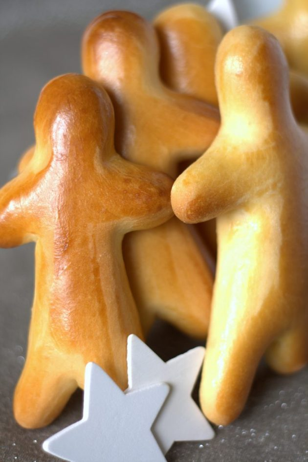 Manneles de Noel, Saint Nicolas, pâte à brioche