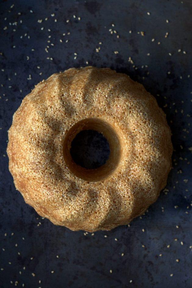 Cake citron et sésame blanc de Michalak